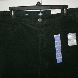 St. John's Bay Dark Green Corduroy Jeans, 14P